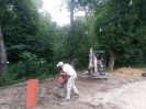 27.07.2021 - remont fundamentów kościoła