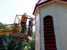 17 i 20.08.2012 - malowanie wież na kościele